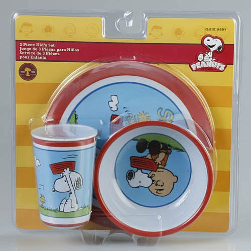 Peanuts 3pc. Kids Set Dinnerware