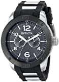 Invicta 15809 Men's Specialty Charcoal Dial Rubber & Steel Bracelet Multifunction Watch