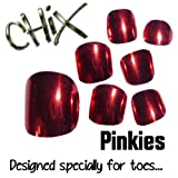 Chix Nails Nail Wraps PINKIES Red Lightening JUST FOR TOES Toes Vinyl Foils Minx Trendy Style SALON