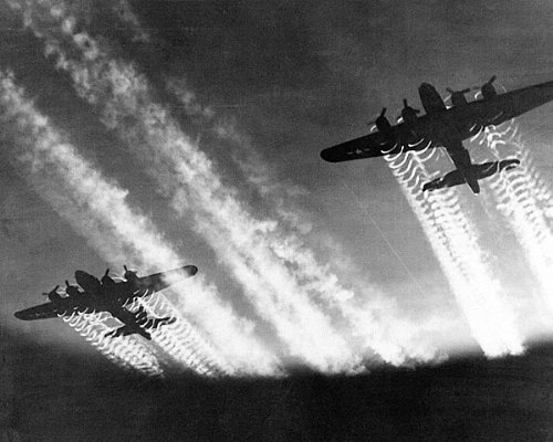 Boeing B-17 Flying Fortress w/ Contrails 8x10 Silver Halide Photo Print