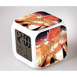 GUOHUA®Fairy Tail Anime Cartoon création réveil coloré pour enfants réveil réveil numérique horloge analogique horloge lumineuse , #9