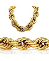 30 Inch 20mm Gold Style Thick Rope Hip Hop Chain Necklace