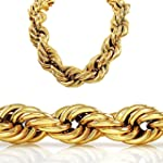 30 Inch 20mm Gold Style Thick Rope Hi...