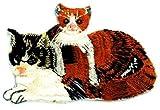動物 ネコ 猫 アイロンワッペン 刺繍 パッチワッペン