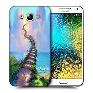 Snoogg Stairs To Heaven Printed Protective Phone Back Case Cover ForSamsung Galaxy E7
