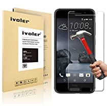 HTC One A9 Protection écran, iVoler® Film Protection d'écran en Verre Trempé Glass Screen Protector Vitre Tempered pour HTC One A9- Dureté 9H, Ultra-mince 0.20 mm, 2.5D Bords Arrondis- Anti-rayure, Anti-traces de doigts,Haute-réponse, Haute transparence- Garantie de Remplacement de 18 Mois