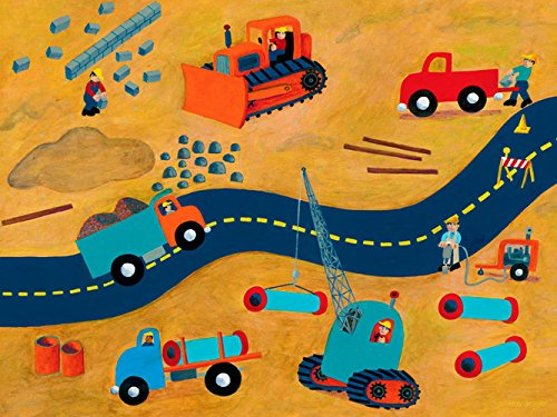 Oopsy Daisy Road Repair Stretched Canvas Wall Art by Max Grover, 24 by 18-Inch