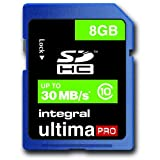 Integral UltimaPro 8Gb SDHC High Speed Class 10 (30MB/s) Card