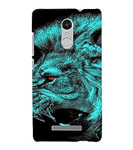 PrintVisa Neon Lion 3D Hard Polycarbonate Designer Back Case Cover for Xiaomi Redmi Note 3