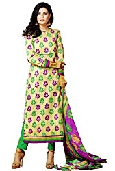 Saad Creations Women's Cotton Unstitched Dress Material_BLR1308_Multicolored_Freesize