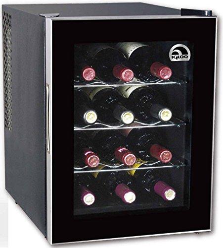 Fantastic Deal! Igloo FRW1201 12-Bottle Wine Cooler, Black