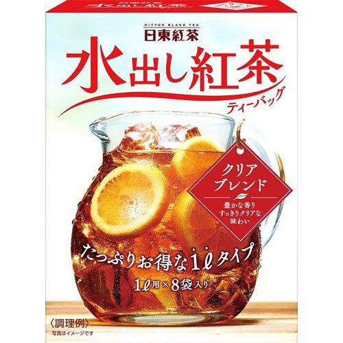 日東紅茶水出紅茶クリアブレンドティーバッグ8g×8
