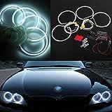 AUDEW Angel Eyes Set LED Standlicht Ringe Scheinwerfer 7000K Weiß CCFL für BMW E36E39E46 Models