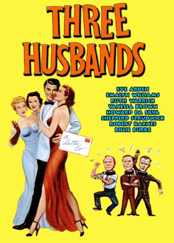 Three Husbands Vintage 1950's Film Poster