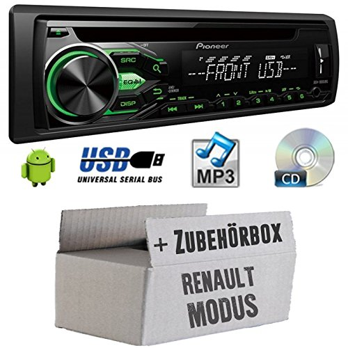 Renault Modus - Pioneer DEH1800UBG - CD/MP3/USB Autoradio - Einbauset