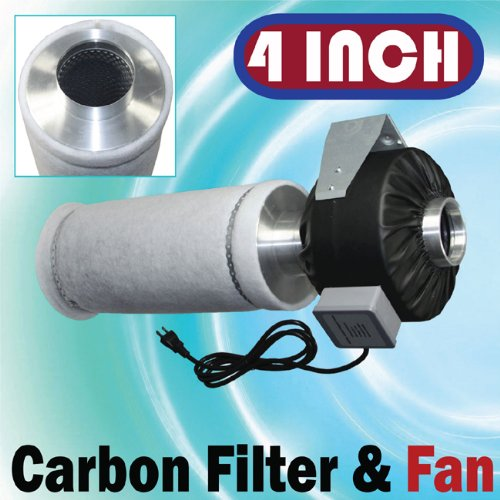 Cheap 4″ Inline Fan Carbon Filter Combo Odor Control Scrubber (B004DFILAY)