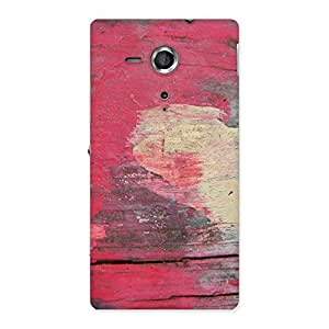 Delighted Vintage Red Yellow Print Back Case Cover for Sony Xperia SP