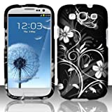 51YsRXQJ JL. SL160  Cell Phone Case for AT&amp;T,T Mobile,Sprint,Verizon Samsung I9300 Galaxy S 3   White Flowers