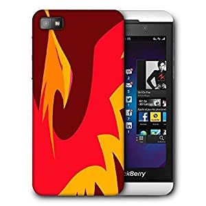 Snoogg Philomena Printed Protective Phone Back Case Cover For Blackberry Z10