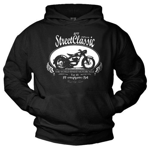 Motorcycle Gift for Men DKW RT 250 Hooded Pullover/Sweatshirt black XXL