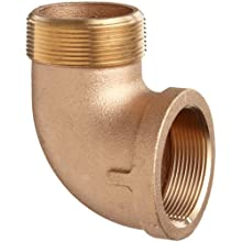Lead Free Brass Pipe Fitting, 90 Degree Street Elbow, Class 125, NPT Male X Female