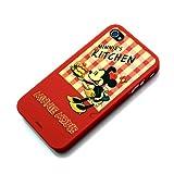 iPhone 4 用 ディズニーキャラクター ラバーコートバックパネルケース 液晶保護フィルム付き (ミニーマウス) RX-IJK483MNE