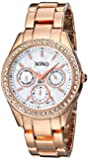 XOXO Women's Rhinestone Accent Rose Bracelet Watch White XO5386