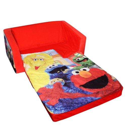 Awesome Marshmallow Fun Furniture Flip Open Sofa With Slumber Attachment Sesame  Street Theme