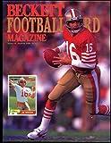 1990 Beckett Football Card Magazine Issue #2 Joe Montana Cover Photo 49ers