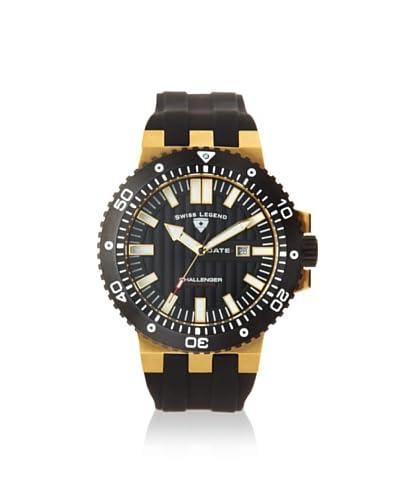 Swiss Legend Men's 10126-YG-01-BB Challenger Black Textured Dial Silicone Watch