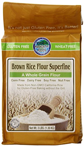 Authentic Foods Superfine Brown Rice Flour - 3lb (Flour Brown Rice compare prices)