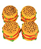 Binmer(TM)New Pet Toy Dog Toy Burger Super Realistic Dog Toy Cat Toy Fun Game with Pet