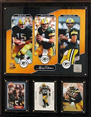 NFL Green Bay Packers Starr/Favre/Rodgers 12x15-Inch Legacy Collection Plaque