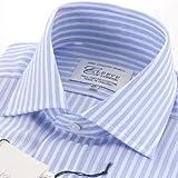 (クリーブ・オブ・ロンドン)Cleeve of London ストライプシャツ ライトブルー・ホワイト
