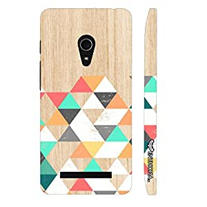 Asus Zenfone 5 Wooden Coloured Triangle 1 designer mobile hard shell case by Enthopia