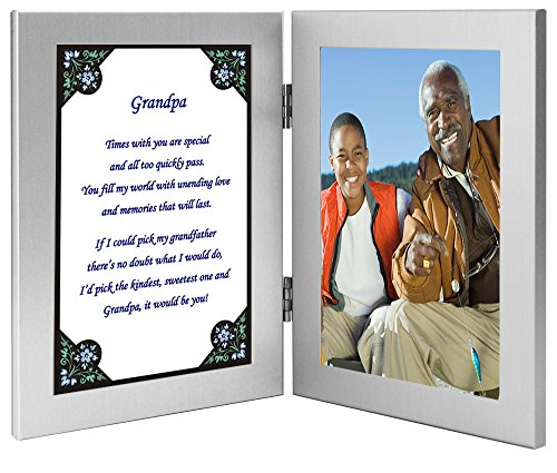 Gift for Grandfather - Grandpa Poem in Double Frame - Photo Added After Delivery