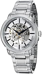 Stuhrling Original Men's 394.33112 Classic Winchester Pro Mechanical Hand Wind Skeleton Silver Dial Watch