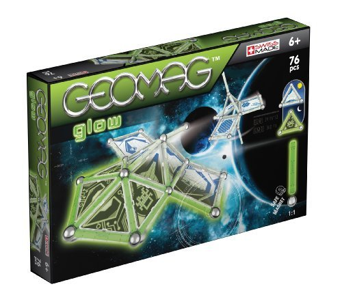 Geomag Space Glow in The Dark Set (76 Pieces) by Geomag