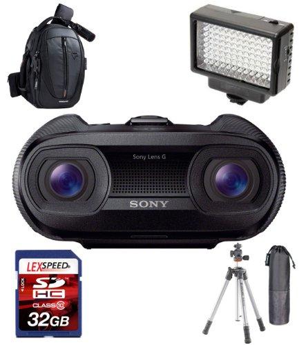 Sony Dev-50V/B Digital Recording Binoculars (Black) W/ Vanguard Led Kit