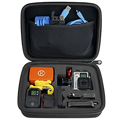 CamKix Case with Fully Customizable Interior for GoPro Hero 4/3+/3/2/1 and Accessories - Tailor the Case to Your Unique Needs - Ideal for Travel or Home Storage - CamKix® Microfiber Cleaning Cloth Included from CamKix