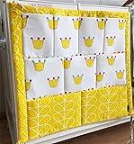 Colgante, diseño de bebé bolsa de pañales bebé cuna Bolsa de almacenamiento amarillo amarillo