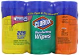 Clorox Disinfecting Wipes Value Pack, Fresh Scent, Citrus Blend and Orange Fusion, 225 Count
