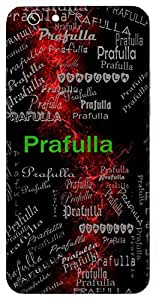 Prafulla (Pleasant, Cheerful, In Full Bloom) Name & Sign Printed All over customize & Personalized!! Protective back cover for your Smart Phone : Samsung Galaxy Note-5