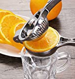 Premium Class Lemon Squeezer Stainless Steel Citrus Juicer - Stainless Steel Handle Hand Press - By Utopia Kitchen