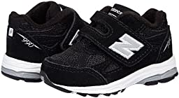 New Balance KV990 Hook and Loop Running Shoe (Infant/Toddler),Black,3 W US Infant