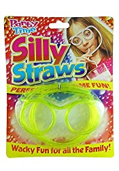Hua You Silly Goggle Shaped Designer Straws for Juice for Kids Fun