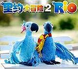 2Pcs Rio 2 Cartoon Plush Toy Blu Parrot 11in 28 cm Blu&Jewel Bird Carla Bia Tiago Stuffed Animal Dolls Christmas Gifts Toys beba poklon za njegu