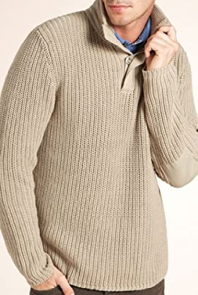 North Coast Pure Cotton Funnel Neck Knitted Jumper [T30-4374N-S]