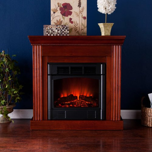 Wexford Petite Convertible Fireplace Mahogany/Electric picture B005SE95RC.jpg
