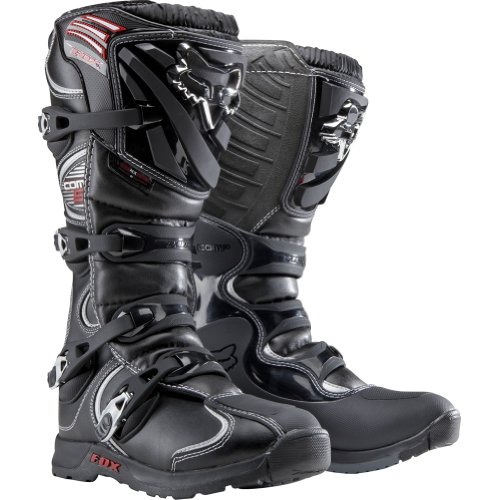 FOX RACING MENS COMP 5 MX MOTOCROSS ENDURO QUAD BOOTS BLACK SIZE UK 10